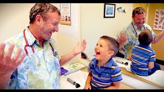 CUTE KID (with Fifth Disease) CAN'T STOP LAUGHING | Dr. Paul