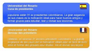 Cours d'espagnol en ligne   Universidad del Rosari