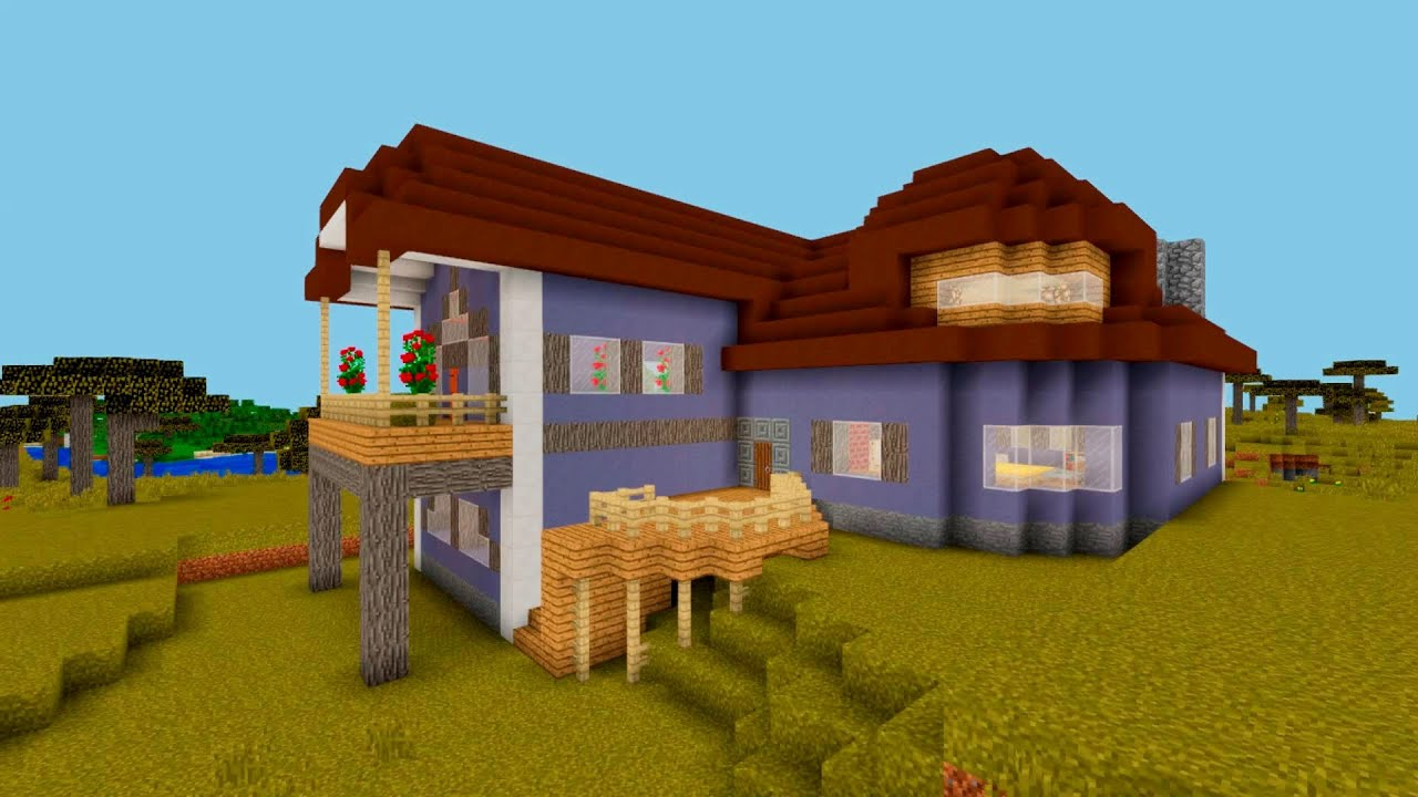 Minecraft how to build a suburban clay house clay design for House build ideas
