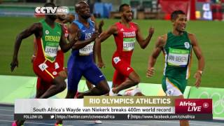 South Africa's Wayde van Niekerk breaks 400m world record