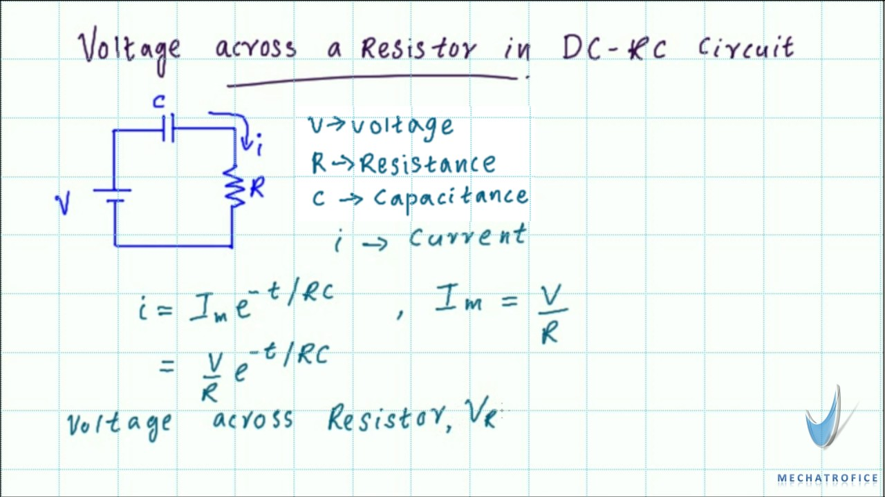 Rc Circuit Voltage Equation Not Lossing Wiring Diagram Series Vs Parallel Circuits Youtube Across A Resistor In Dc Rh Com