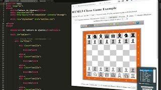 Maquetar y preparar HTML y CSS con id´s y clases para un juego de ajedrez