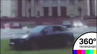 Мажор на Porsche устроил дрифт на газоне у здания МГУ
