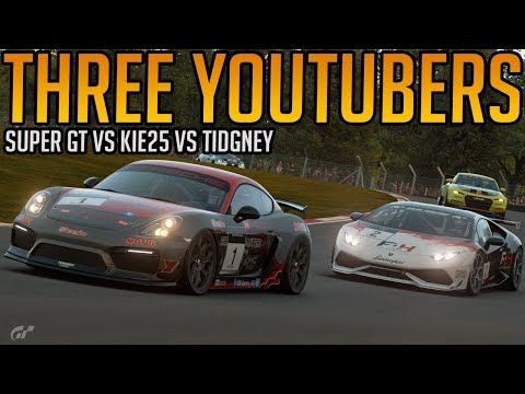 Gran Turismo Sport:  Three YouTubers in The Same Race thumbnail