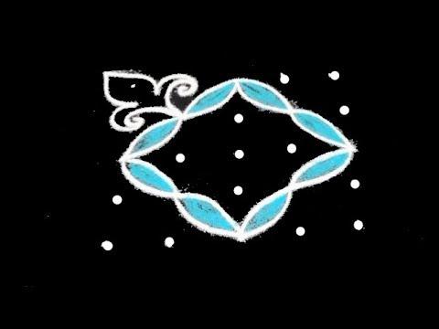 Beginners Creative Kolam Designs With 5X5 Dots || Muggulu Designs ||rangoli Dots Kolam