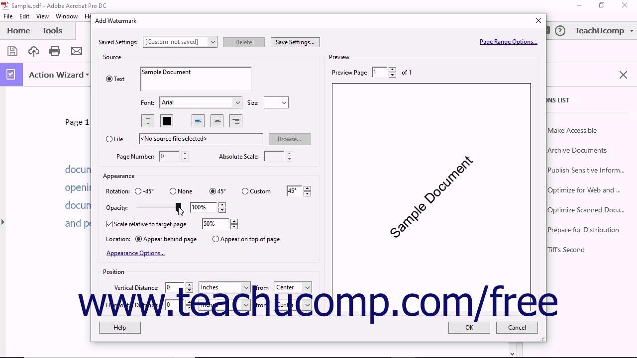 Acrobat Pro DC Tutorial Creating Custom Actions - Adobe Acrobat Pro DC  Training Tutorial Course