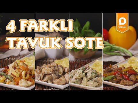 4 Farklı Tavuk Sote Tarifi - Onedio Yemek - Tek Malzeme Çok Tarif