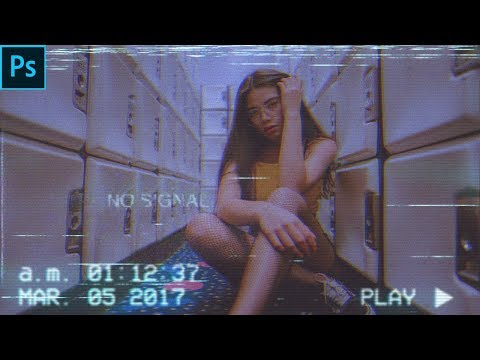 VHS VCR Glitch Effect | Photo Effect | Photoshop Tutorial