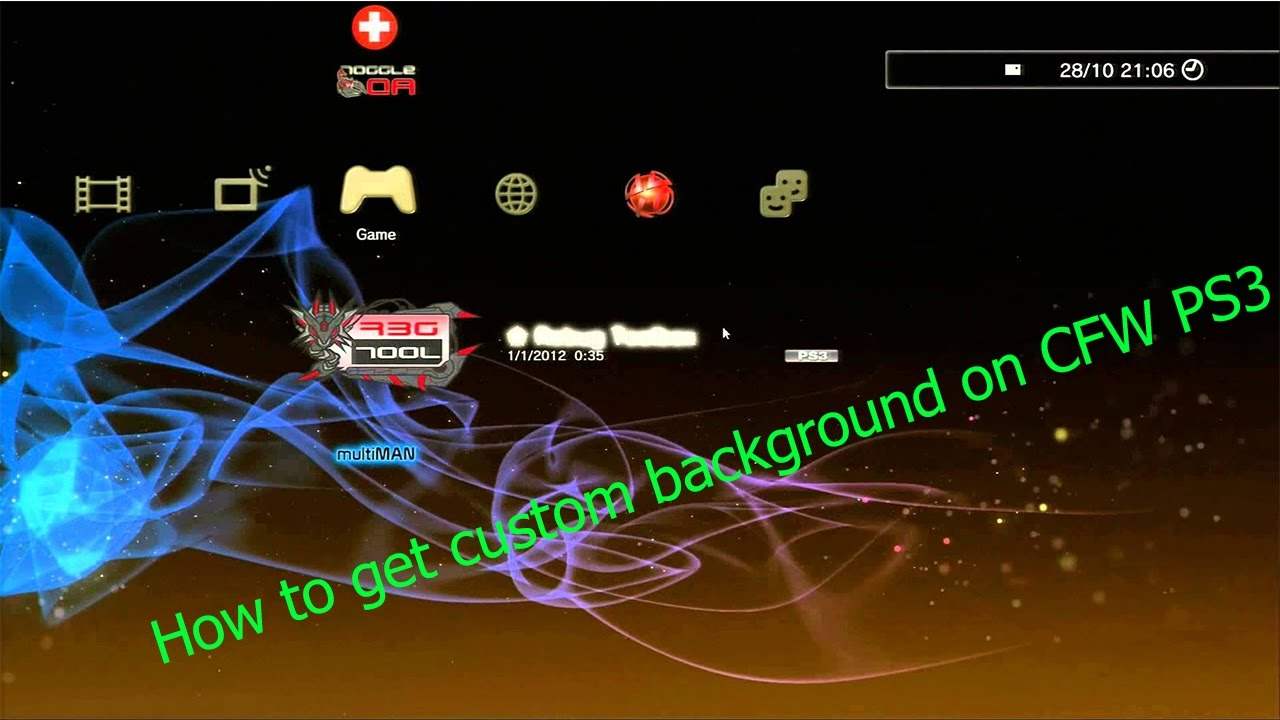 How to install custom theme on CFW PS3