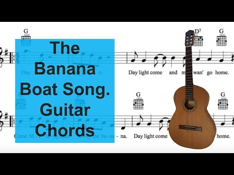 The Banana Boat Song and play guitar with easy chords.