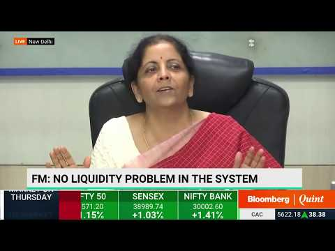 Nirmala Sitharaman Addresses Media After Meeting Private Banks' Heads