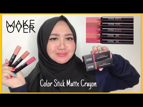 make-over-color-stick-matte-crayon- -swatch-&-quick-review- -bahasa-indonesia- -diendiana