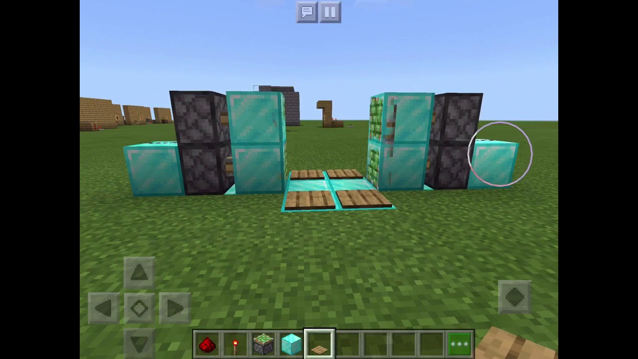 How to build a piston door and a trampoline 🤩🤩🤩 - YouTube