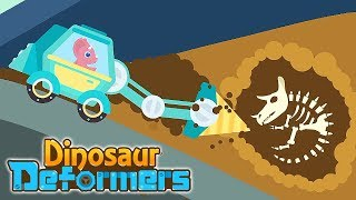 Dinosaur Deformers (6 Transformer Vehicles) | Eftsei Gaming