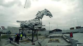 The biggest equine statue in the world