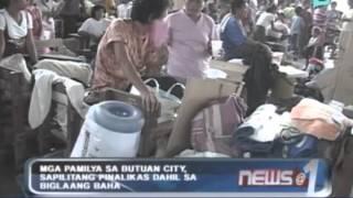 mga pamilya sa butuan city sapilitang pinalikas dahil sa biglaang baha