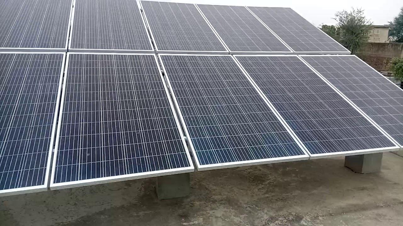 #Polycrystalline #SolarPanel द्वारा बिजली का उत्पादन जब बिल्कुल भी धूप नहीं हो या घने बादल हो!