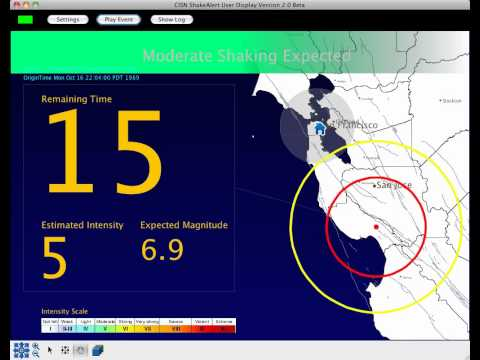 Earthquake Early Warning System Demonstration