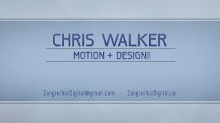 Chris Walker - Motion + Design Reel - May 2018