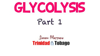 Glycolysis Part 1