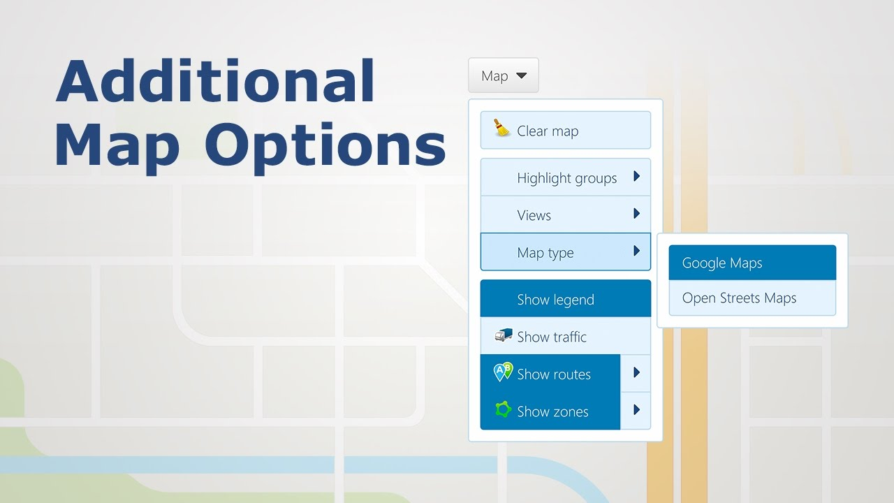 How to View Additional Map Options in MyGeotab | Fleet Productivity