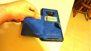 Galaxy Note 9 Leather Wallet Case Defender, 2 Slot Card Holder Review