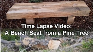 Time Lapse Video - Making a Bench Seat from a Pine Tree
