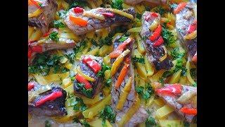 Запекаю КАРПА в духовке с картофелем ФРИ и с болгарским ПЕРЦЕМ  Очень вкусно