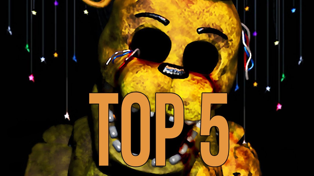 top 5 scariest animatronics five nights at freddy s fnaf youtube