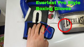 How To Use Everlast Pro Style Training Boxing Gloves Review