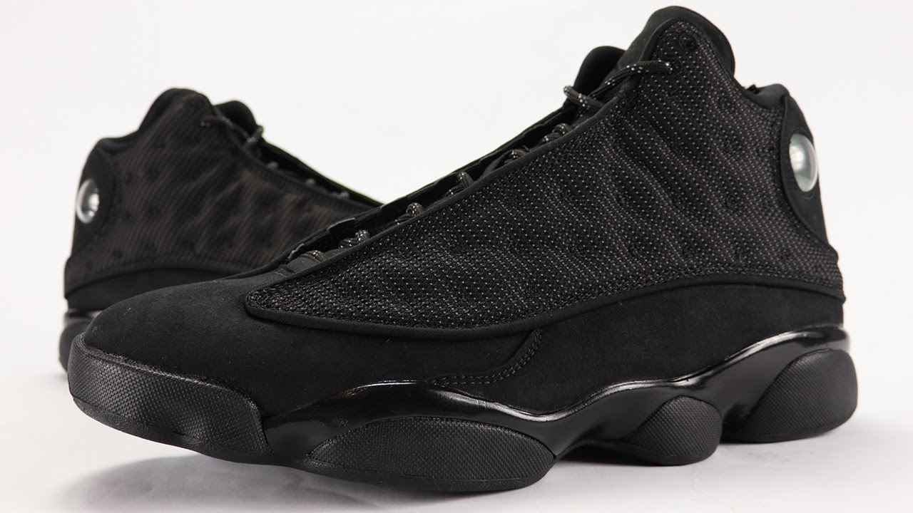 online store fad72 895c5 Air Jordan 13 Black Cat Review + On Feet - YouTube