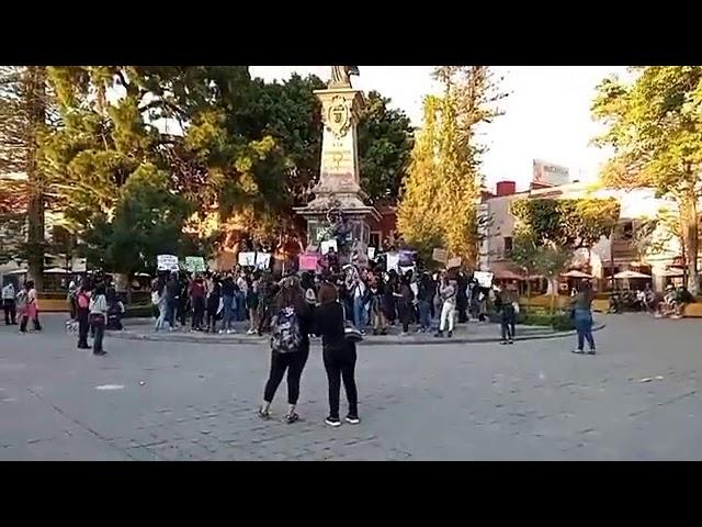 Reporte Cobertura de manifestación de mujeres ayer en Querétaro por @ramon_cubo