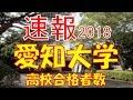 【速報】愛知大学 2018年(平成30年) 合格者数高校別ランキング