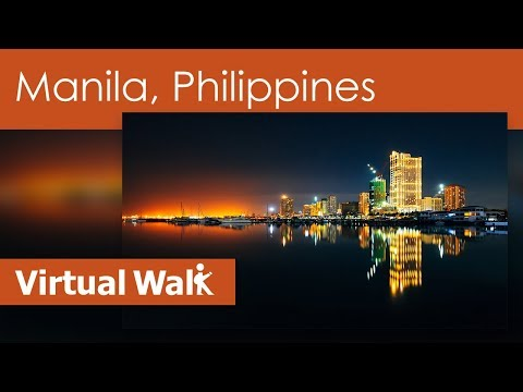 Virtual Walk In Manila Filmed With The Panasonic AG AC 90 P With 3 Axis Stabilization