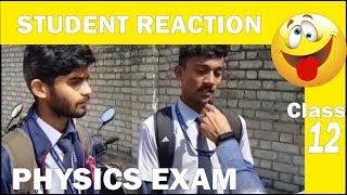 CBSE Class 12 Physics Exam Students Reaction Complete Paper Analysis Difficulty Level