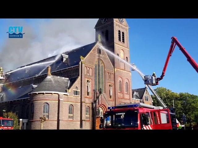 Brand in Corneliuskerk Limmen