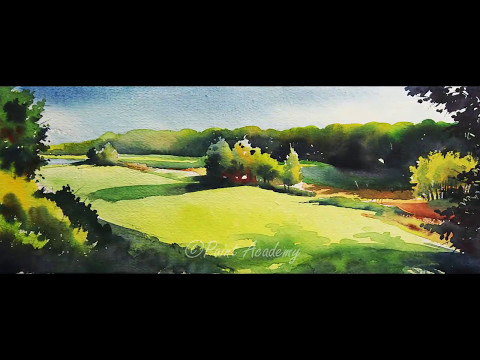Watercolor Landscape Painting Tutorial step by step: Watch step by step Painting, how to use colors & detail color information on the video when it has been applied. ..........................................................................  SUNDAY- Watercolor Tutorials MONDAY- Acrylic Tutorials WEDNESDAY- Pastel Tutorials FRIDAY- Pen & Pencil Tutorials ..........................................................................  ♥ SUBSCRIBE US at: https://goo.gl/aIPTzL for more great Tutorials ♥ Like us on Facebook:- https://www.facebook.com/ThePaintAcademy ♥ Follow us on Twitter:- https://twitter.com/paint_academy ___________________________________________  ► Last Video:- https://youtu.be/efoy1okIagI ► Most Popular Video:- https://youtu.be/I0NawM5zygw ► Share this Video:- https://youtu.be/x_wu7ZwKouM ___________________________________________  Hope you will like this painting and let me know if you were able to recreate it..  ◙ Product Details:- Pencil:- 2B http://amzn.to/1UcOaQS  Color:-  1. Camel Artist's Water Color 12 Shades- http://amzn.to/2id3RtX 2. Camlin Artists' Water Color 18 shades http://amzn.to/1pPynuT  Paper:- Handmade Paper Palette:- http://amzn.to/1Md6VkJ Masking Tape- http://amzn.to/2fiOp05  Extra Product you can use:- Handmade Paper:- http://amzn.to/1Md5Mtc Canson A3 Fine Grain Sheets- http://amzn.to/2eI8ris Fabriano Studio Watercolor Blocks- http://amzn.to/2dZHjHB Fabriano Artistico Watercolour Pad- http://amzn.to/2fGXVFz Daler-Rowney A3 Watercolour Pad- http://amzn.to/2f080P9 Dreambolic Watercolor Notebook- http://amzn.to/2dS6T6g spiral water color pad A3 size- http://amzn.to/2f08hBF Khyati Air Tight Colour Mixing Palette- http://amzn.to/2dZEW7W  Camel Artist's Watercolor 9ml, 18 Shades- http://amzn.to/2dZFdYg Winsor & Newton 12 Watercolor- http://amzn.to/2f4HcM2  Daler-Rowney Natural Camel Hair Brush- http://amzn.to/2eneZQD     Disclaimers: all opinions are Paint Academy, affiliate links are Amazon.