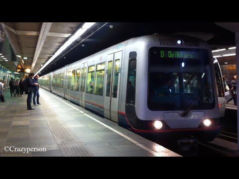 RET metro MG2/1 in originele kleur op Beurs Rotterdam naar De Akkers, lijn D