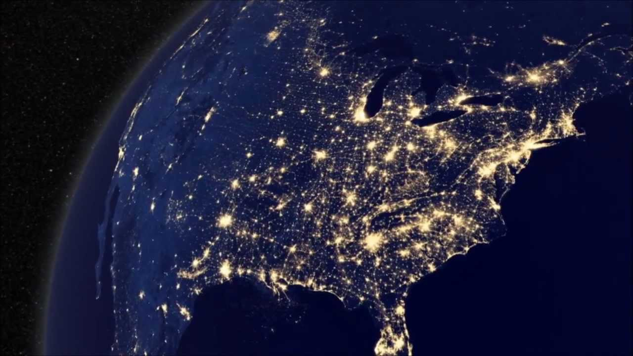planet earth from space at night - photo #29