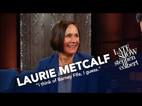 Thumbnail: Laurie Metcalf Battles Stephen In 'The Late Show's New Vocal Warmups'