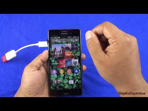 Sony Xperia Z3 USB OTG Support