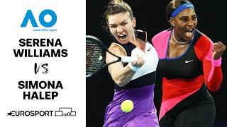 Serena Williams v Simona Halep | Australian Open 2021 - Highlights | Tennis | Eurosport