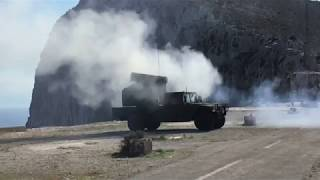 DFN: B-ROLL of SHORAD Live Fire at Artemis Strike, CHANIA, GREECE, 11.06.2017