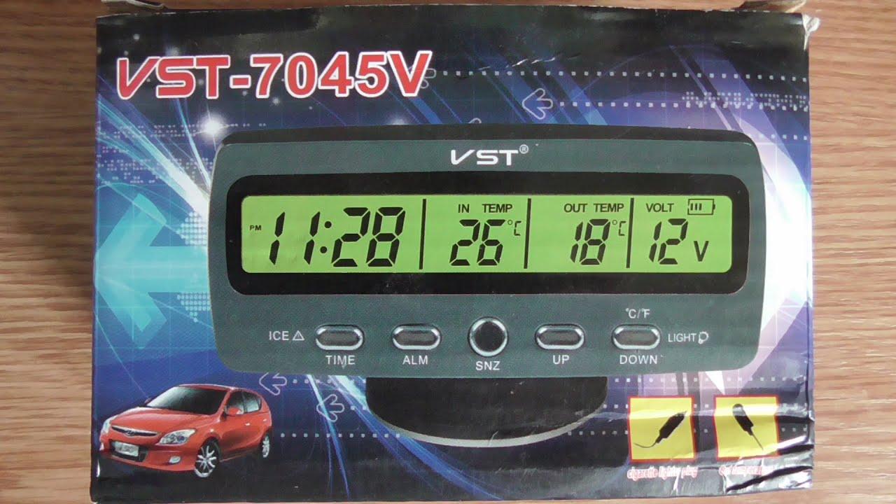 Настройка часов VST 7045V