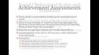 Assessments and Special Education