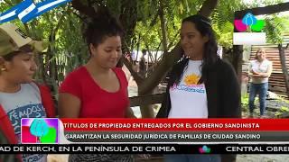 Títulos entregados por el gobierno garantizan la seguridad jurídica a familias de Ciudad Sandino