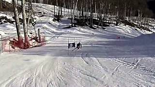 Ted Ligety Training on Sochi Olympic GS Hill (stabilized)