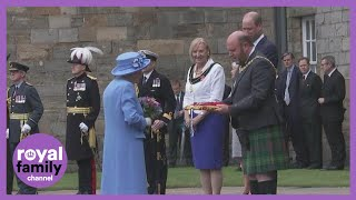 The Queen Attends Ceremony of the Keys at Holyroodhouse in Edinburgh