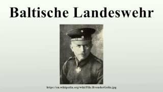 Baltische Landeswehr