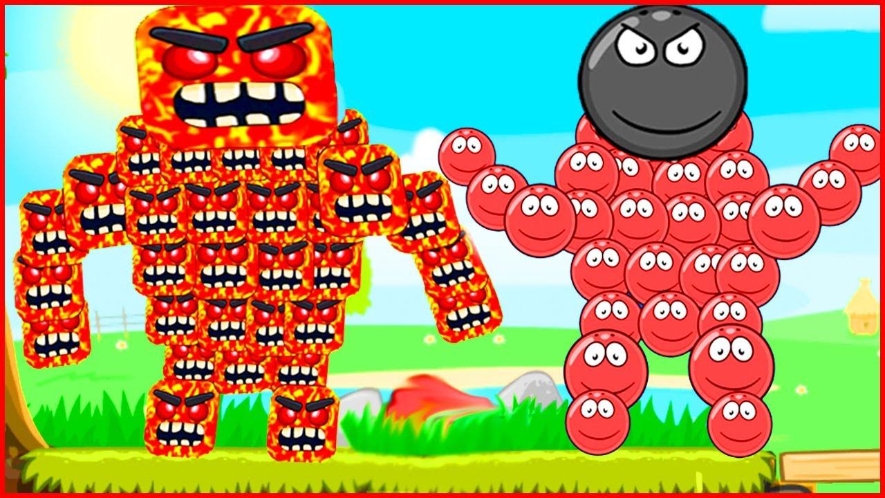 """Мультик Red Ball 4 """"Лавовый Босс"""". Анимация Игра - Красный Шар ОЗВУЧКА несносный шарик от Браяна!"""